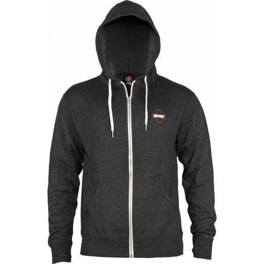 Bones Bearings Swiss Outline Sweatshirt Zip Charcoal