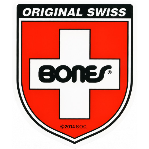 Bones Swiss Bearing Shield Sticker Medium single