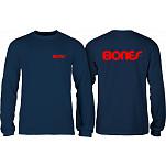 Bones Bearings Swiss Text L/S Shirt Navy