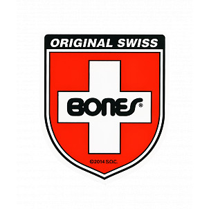 Bones Swiss Bearing Shield Sticker Small single
