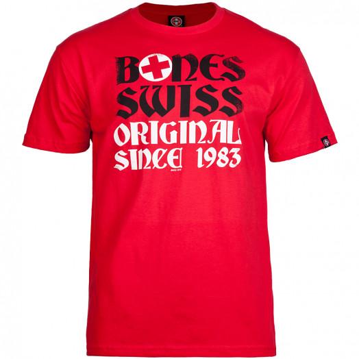 Bones® Bearings Swiss OG 83 T-shirt - Red