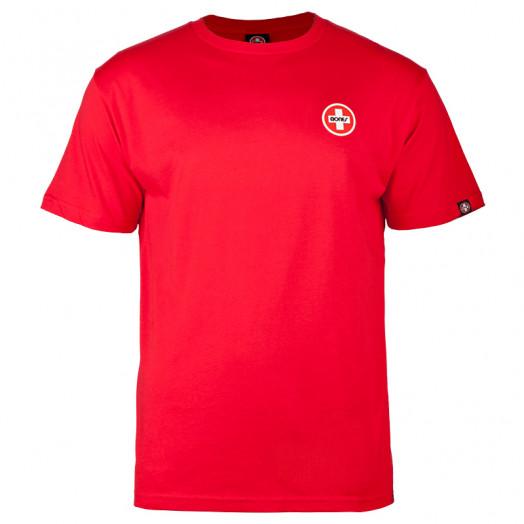 Bones® Bearings Small Swiss Logo T-Shirt - Red