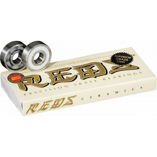 Bones® Ceramic Super REDS® Skateboard Bearings 8 pack